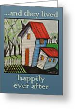 Happily Ever After White Picket Greeting Card