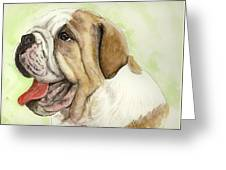 Happy Bulldog Greeting Card
