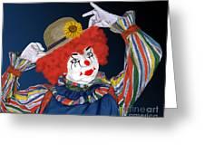 Happy Clown Greeting Card