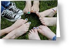Happy Feet Greeting Card
