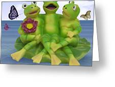 Happy Frogs Greeting Card