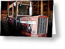 Happy Harvestor Tractor Greeting Card