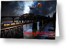Happy Holidays - Once Upon A Time In The Story Book Town Of Benicia California - 5d18849 Greeting Card by Wingsdomain Art and Photography