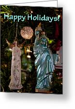 Happy Holidays To All My Friends On Fine Art America Greeting Card