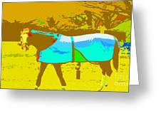 Happy Horse Pop Art Greeting Card