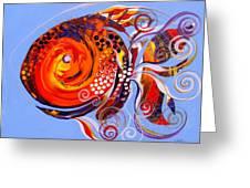 Happy Rainbow Fish Greeting Card
