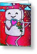Happy Robot Friend Greeting Card