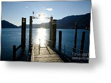 Harbor And Sun Greeting Card