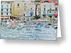 Harbor At Isle Of Capri Greeting Card