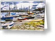Harbor Boats Greeting Card