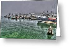 Harbor Dawn Greeting Card