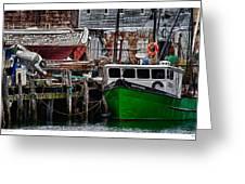 Harbor Dock Greeting Card