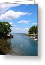 Harbor Home Maine Greeting Card