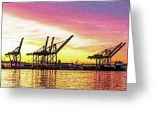 Harbor Island Sunrise Greeting Card