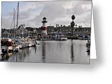 Harbor Lighthouse Greeting Card