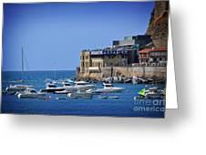 Harbor - North Coast Of Spain Greeting Card