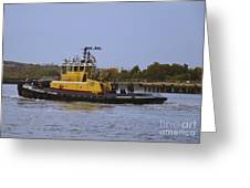 Harbor Tug Savannah Greeting Card