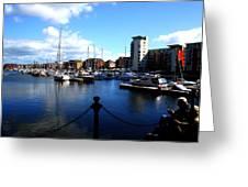 Harbour Fishermen  Greeting Card