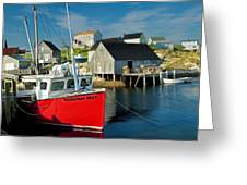 Harbour Mist In Peggy's Cove No 103 Greeting Card
