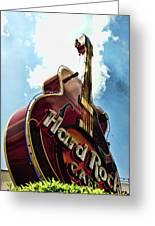 Hard Rock Guitar Greeting Card