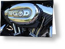Harley Chrome Greeting Card