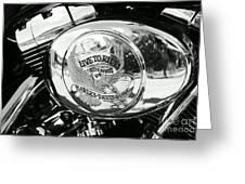 Harley Davidson Bike - Chrome Parts 22 Greeting Card