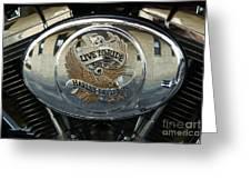 Harley Davidson Bike - Chrome Parts 44c Greeting Card