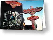 Harley Davidson Cafe Las Vegas Greeting Card