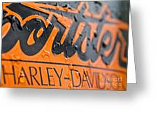 Harley Davidson Logo Greeting Card