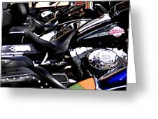 Harley Davidson Motorcycles Greeting Card