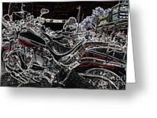 Harley Davidson Style 3 Greeting Card