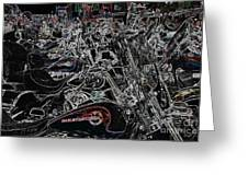 Harley Davidson Style Greeting Card