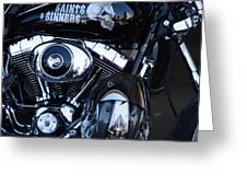 Harley Engine Greeting Card