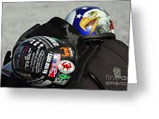 Harley Helmets Greeting Card