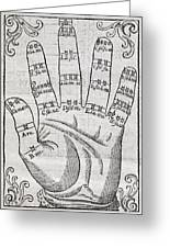 Harmonious Hand, 17th Century Artwork Greeting Card by Middle Temple Library