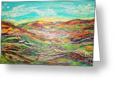 Harmony Of Colors  Greeting Card by Mary Sedici