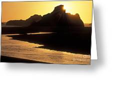 Harris Beach Sunset Greeting Card