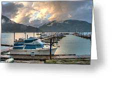 Harrison Lake At Dusk Greeting Card