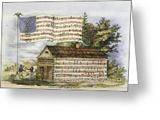 Harrisons Log Cabin March Greeting Card