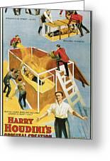 Harry Houdini Buried Alive Greeting Card