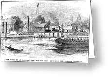 Hartford, 1853 Greeting Card