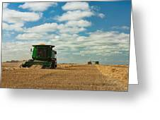 Harvest On The Canadian Prairies Greeting Card