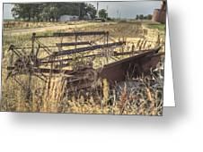 Harvester Sweep Wheel 1 Greeting Card