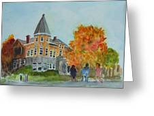 Haskell Free Library In Autumn Greeting Card