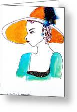 Hat Lady 15 Greeting Card