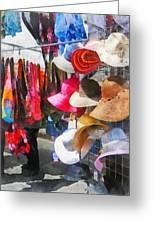 Hats And Purses At Street Fair Greeting Card