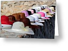 Hats On The Rocks Greeting Card