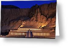 Hatshepsuts Mortuary Temple Rises Greeting Card