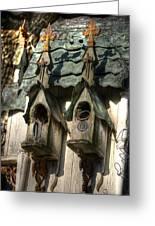 Haunted Birdhouse Greeting Card