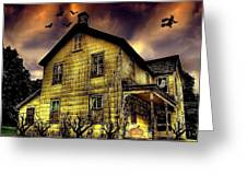 Haunted Halloween House Greeting Card